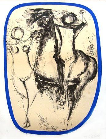Litografía Marini - Famille d'acrobates