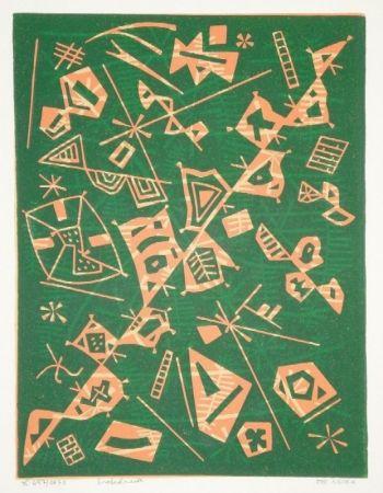 Linograbado Nebel - Farbiger Linolschnitt (Werknummer 657/1973)