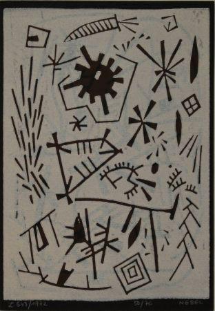 Linograbado Nebel - Farbiger Linolschnitt (Werknummer L. 643/1972).