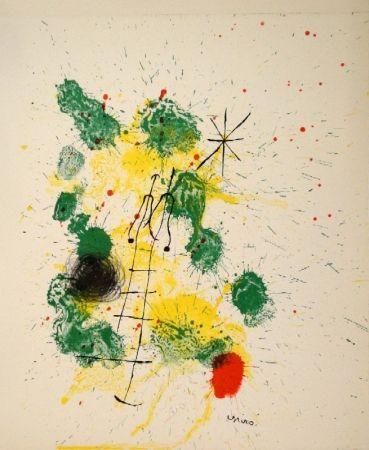 """Litografía Miró - Farblithographie für """"Kronenhalle 1862-1922-1962"""""""