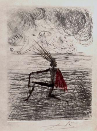 Grabado Dali - Faust Chevalier a Genou