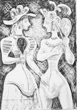 Litografía Campigli - Fedra II
