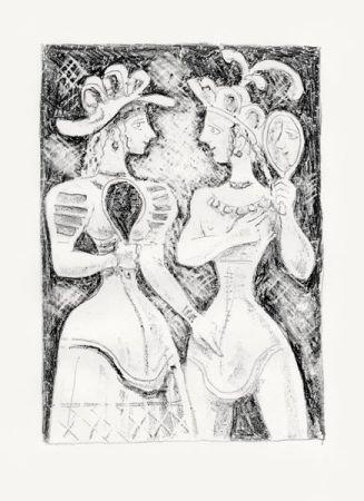 Litografía Campigli - Fedra Ii (Theseus)