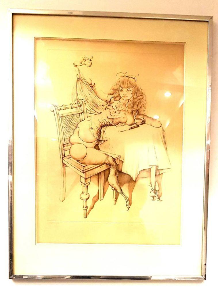 Litografía Bellmer - Femme