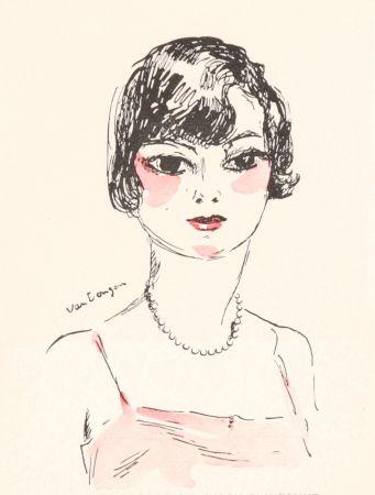 Litografía Van Dongen - Femme- Salon D'Automne, 11929