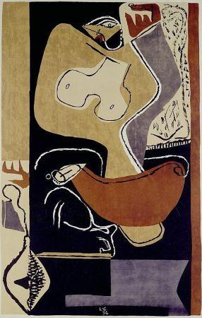 Litografía Le Corbusier - Femme à la main levée –1st edition