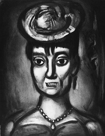 Aguafuerte Y Aguatinta Rouault - Femme affranchie è quatorze heures chante midi