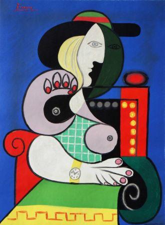 Litografía Picasso - Femme Assise Avec Montre-Bracelet
