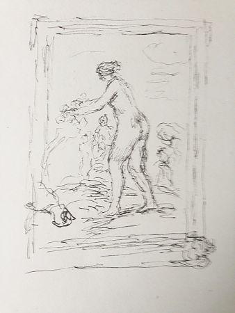 Litografía Renoir - Femme au cep de vigne