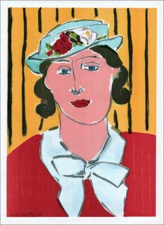 Litografía Matisse - Femme au chapeau