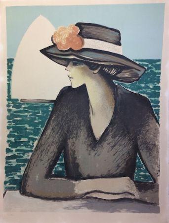 Litografía Cassigneul  - Femme au chapeau.