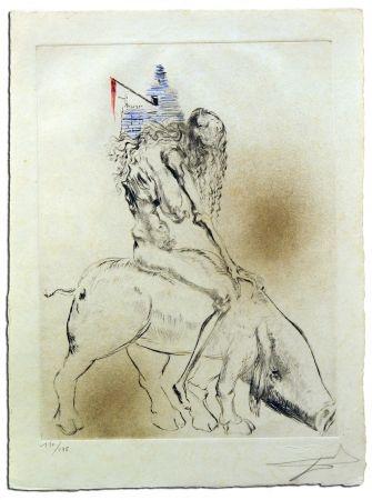 Grabado Dali - Femme Au Cochon, from Faust