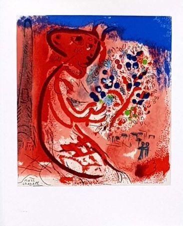 Litografía Chagall - Femme au Double Profil