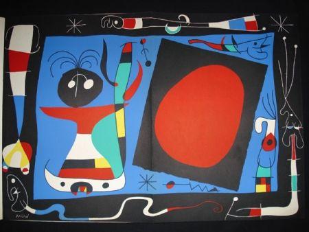 Litografía Miró - Femme au Miroir