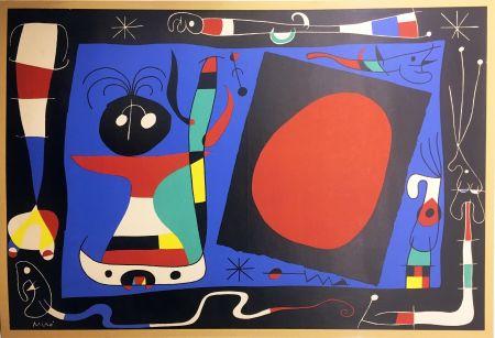 Litografía Miró - FEMME AU MIROIR (1956)