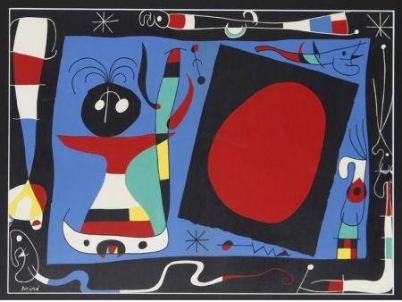 Litografía Miró - Femme au miroir / Woman Before a Mirror
