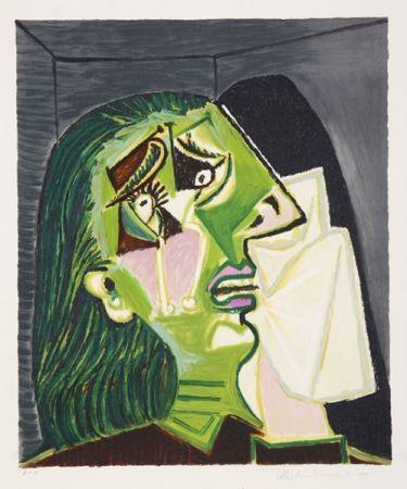 Litografía Picasso - Femme Au Mouchoir