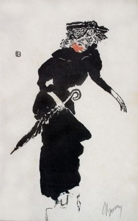 Litografía Bonnard - Femme au Parapluie
