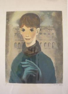 Grabado Lydis - Femme aux gants