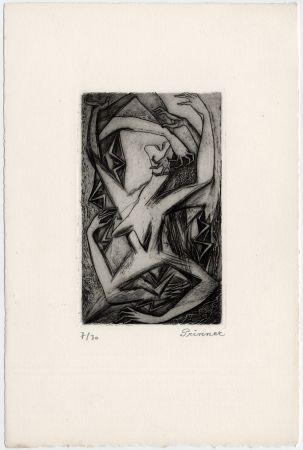 Aguafuerte Prinner - Femme, bras et mains (La Femme tondue, 1946)