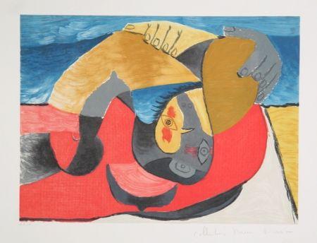 Litografía Picasso - Femme Couchee