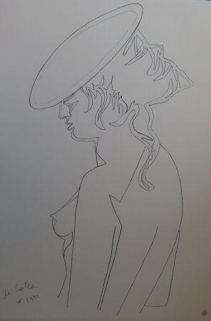 Litografía Cocteau - Femme de profil