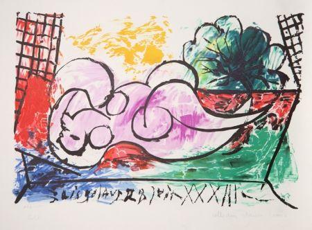 Litografía Picasso - Femme Endormie