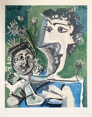 Litografía Picasso - Femme et Enfant