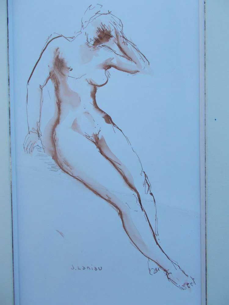 Aguatinta Laniau - Femme Nue
