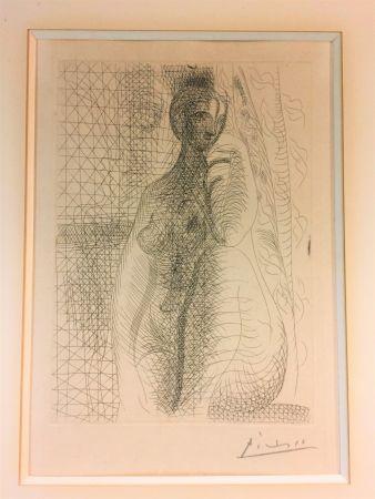 Aguafuerte Picasso - Femme nue a la jambe plièe