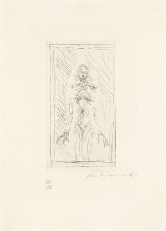 Grabado Giacometti - Femme nue de face à mi-corps