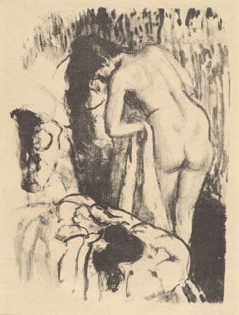 Litografía Degas - Femme nue debout à sa toilette / Standing Nude Woman, Drying Herself