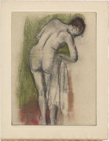 Aguafuerte Y Aguatinta Degas - Femme nue debout à sa toilette (vers 1880-1890)