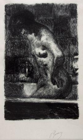 Litografía Bonnard - Femme Nue Debout dans sa Baignoire
