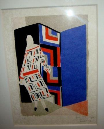 Litografía Delaunay - Femme paravent