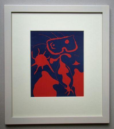 Linograbado Miró - Femme pour XXe Siècle