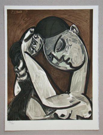 Litografía Picasso - Femme se coiffant, 1955