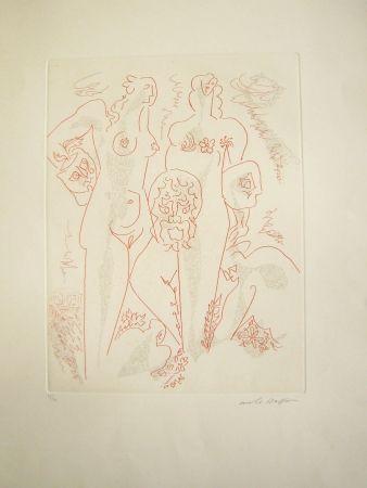 Grabado Masson - Femmes aux masques