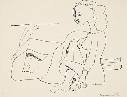 Litografía Picasso - Femmes Sur La Plage
