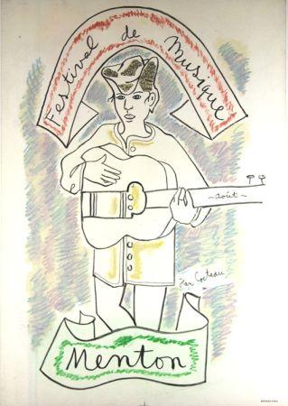 Litografía Cocteau - Festival de Musique de Menton