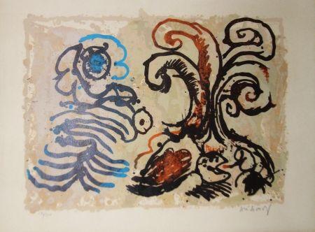 Litografía Alechinsky - Feuillage