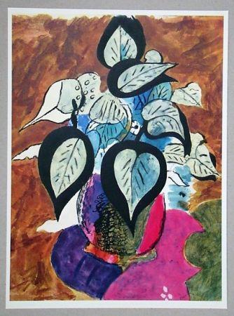 Litografía Braque (After) - Feuillage en couleurs