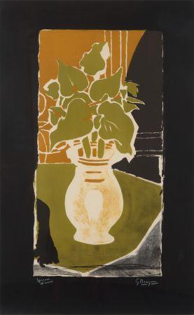 Litografía Braque - Feuilles Couleur Lumière