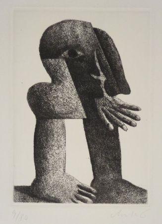 Grabado Antes - Figur Kösel II (Kopffüssler).