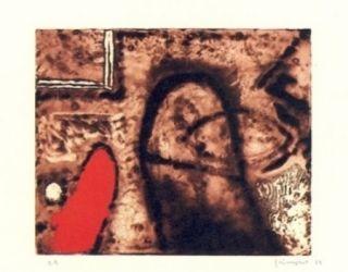 Grabado Guinovart - Figura i vermell