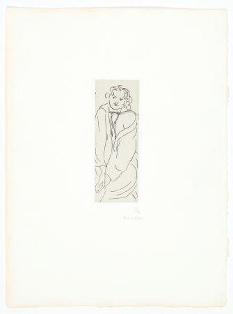 Grabado Matisse - Figure au peignoir