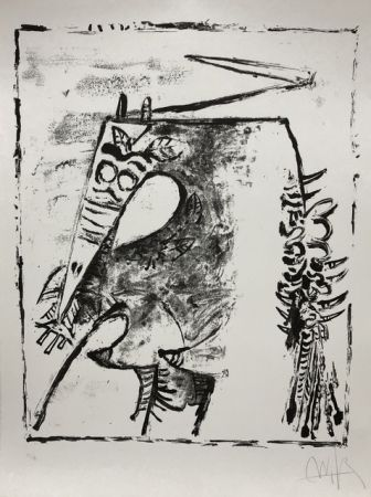 Litografía Lam - Figure blanche et noire