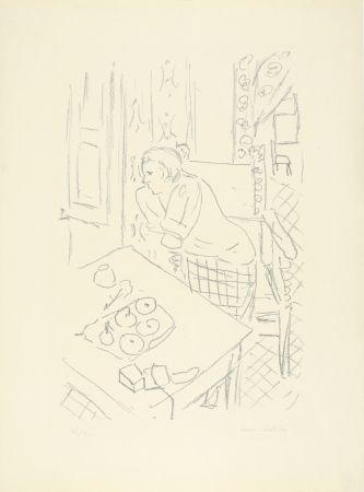 Litografía Matisse - Figure dans un intérieur