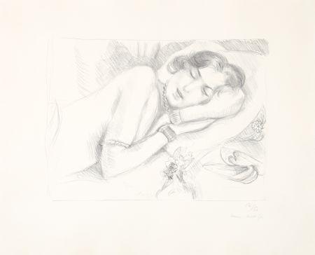 Litografía Matisse - Figure endormie aux babouches