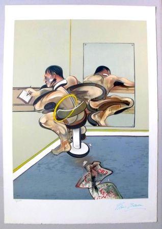 Litografía Bacon - Figure Writing Reflected In A Mirror